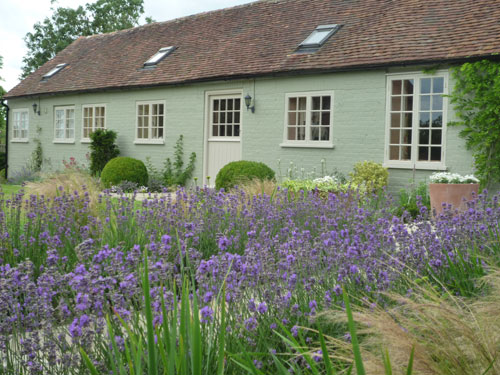 Natural planting for farm courtyard
