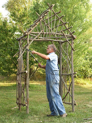 Twig arbour photo courtesy bhg