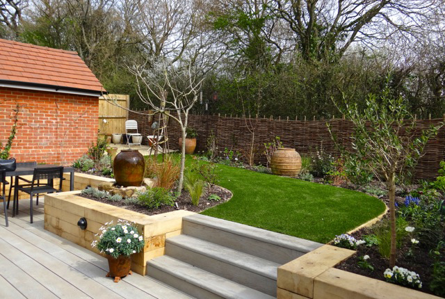 Garden design and build for a new home in Sussex now completed