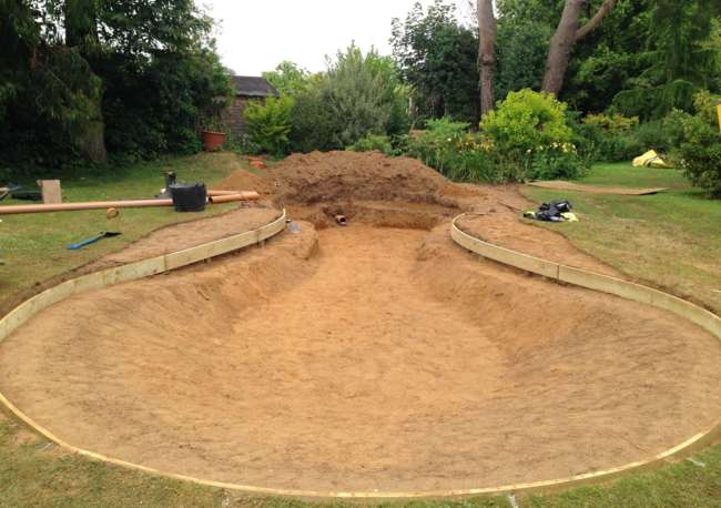 New wildlife pond in west sussex the claudia de yong blog for Design wildlife pond